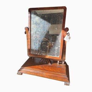 Large French Mahogany Mirror, 1800s