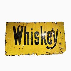 Decorazione da parete Whiskey vintage smaltata, Stati Uniti
