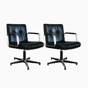 Fauteuil Swivel Chairs by Egon Owner Mann, Set of 2