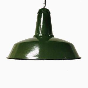 Grüne Bauhaus Fabriklampe