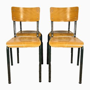French School Chairs, 1960s, Set of 4