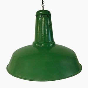 Bauhaus Fabriklampe in Hellgrün