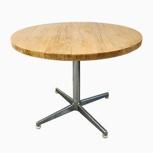 Vintage Light Oak Round Table