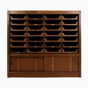 Large Oak Haberdashery Cabinet