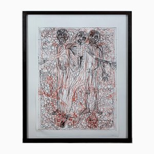 Lithographie von Herman Nitsch