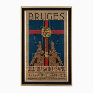 Brügge Jeu Du Saint-Sang Poster, 1939