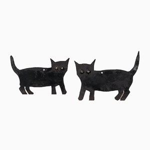 Black Cat Bird Scarers, Set of 2