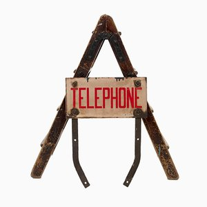 Enamel Telephone Sign, 1950s