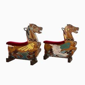 Cavalli di giunco, set di 2