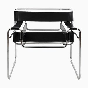 Wassily Model B3 Chairs by Marcel Breuer, 1989, Set o 2