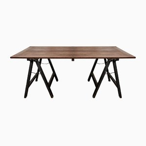 Ecclesiastical Oak Trestle Table