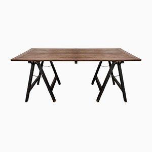 Tavolino da cavalletto ecclesiastico in quercia