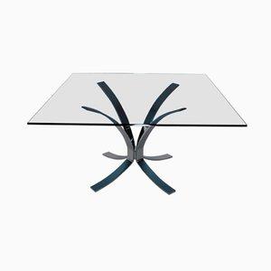 Table d'Appoint Bleue en Verre