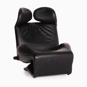 Wink Leather Armchair by Toshiyuki Kita