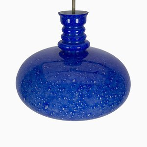 Lampada da soffitto Vulcano vintage blu di Peill & Putzler