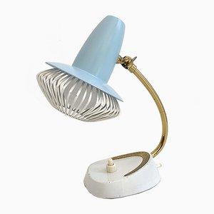 Mid-Century Stilnovo Style Blue & White Table Lamp, 1950s