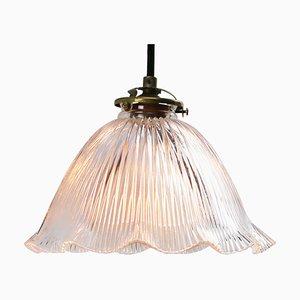 Französische Mid-Century Glas Deckenlampe