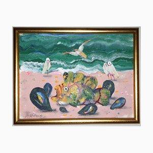 Antonio Possenti, olio su tela applicata su legno