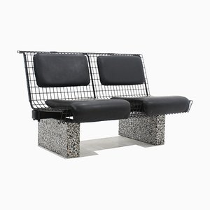 Metal and Granite Bench by Osvaldo Borsani for Tecno, 1980s