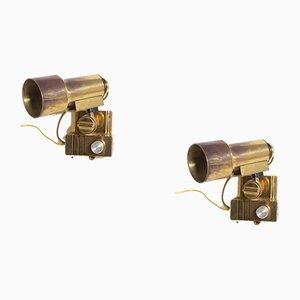 Vintage Brass Sconces by Goffredo Reggiani, Set of 2