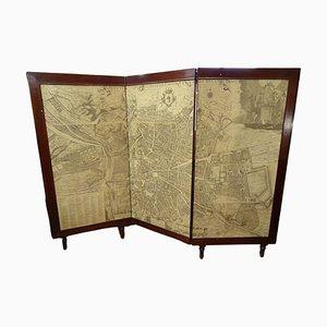 Arts & Crafts Wandschirm aus Holz mit Madrid Gravur