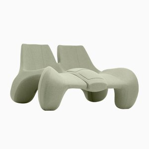 DC 112 Double Chaise Longue Color Kvadrat 917 by Atelier Jungblut