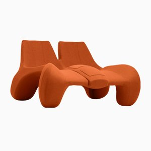 DC 112 Double Chaise Longue Color Kvadrat 547 by Atelier Jungblut