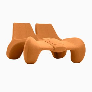 DC 112 Double Chaise Longue Color Kvadrat 527 by Atelier Jungblut