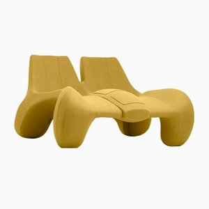 DC 112 Double Chaise Longue Color Kvadrat 427 by Atelier Jungblut