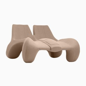 DC 112 Double Chaise Longue Color Kvadrat 413 by Atelier Jungblut
