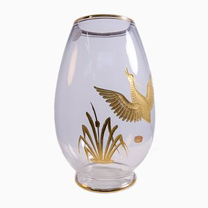 Vase in Murano Glass and Gold by Ferro Brother's for Finzi, 1950s