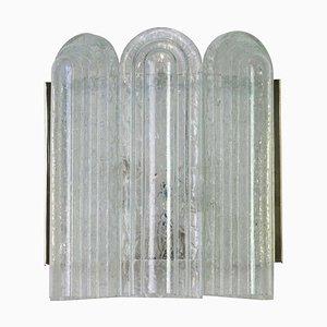 Große Wandleuchten aus Messing & Muranoglas von Doria Leuchten, 1960er, 2er Set