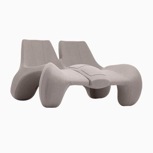 DC 112 Double Chaise Longue Color Kvadrat 147 by Atelier Jungblut