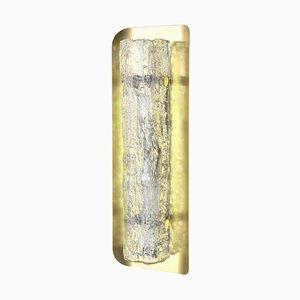 Murano Ice Glass Sconce from Kaiser Leuchten, 1970s