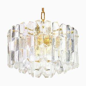 Gilt Brass and Crystal Glass Chandelier from Kalmar, Austria, 1970s
