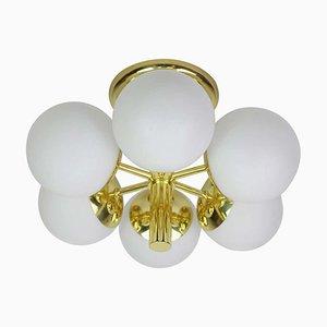 Opal Glass Ceiling Lamp from Kaiser Leuchten, Germany, 1960s