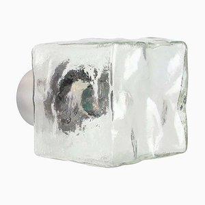 Large Murano Ice Glass Sconce from Kalmar, Austria, 1960s