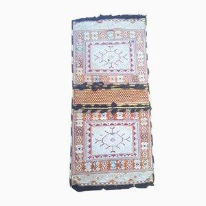 Türkische handgestickte Satteltasche aus Wolle und Seide