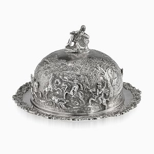 Solid Silver Teniers Muffin Dish by Edward Farrell, 1829