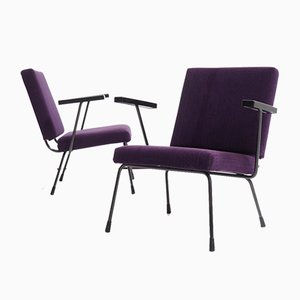 1401 Armchairs by Wim Rietveld for Gispen, 1970s, Set of 2