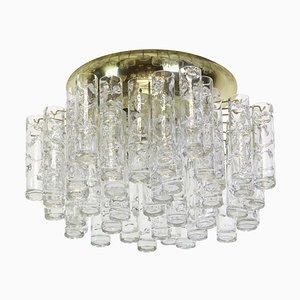 Murano Ice Glass Flush Mount from Doria Leuchten, Germany, 1960s