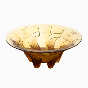 Polish Art Deco Bowl from Huta Julia, 1950s