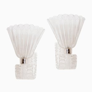 Mid-Century Murano Glass Sconces by Ercole Barovier, Set of 2
