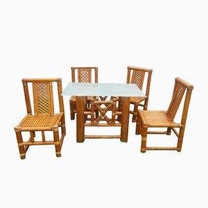 Vintage Bambus Garten Set, 5er Set