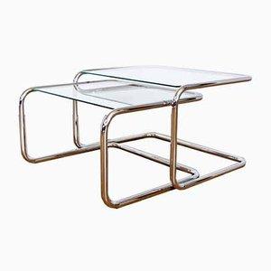 Mid-Century Bauhaus Style Nesting Tables, Set of 2
