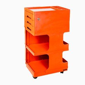 Moderner Servierwagen in Orange von Giovanni Pelis für Neolt, 1970er