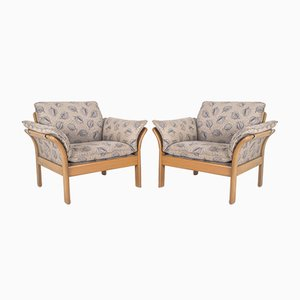 Vintage Cherry Wood ABURA Armchair from Dreipunkt Scala, 1997, Set of 2