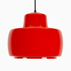 Red Pendant Lamp from Peil & Putzler, 1970s
