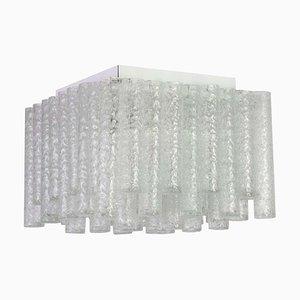 Murano Eisglas Deckenlampe von Doria Leuchten, Deutschland, 1960er
