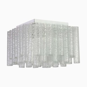 Murano Ice Glass Ceiling Lamp from Doria Leuchten, Germany, 1960s